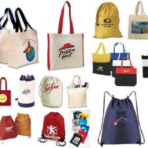 печать логотипа на сумке промо сумка