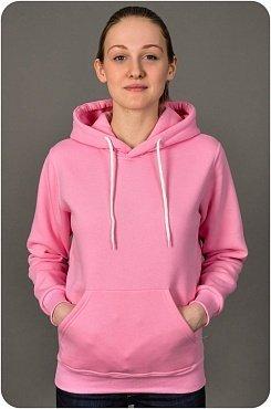 толстовка кенгуру розовая