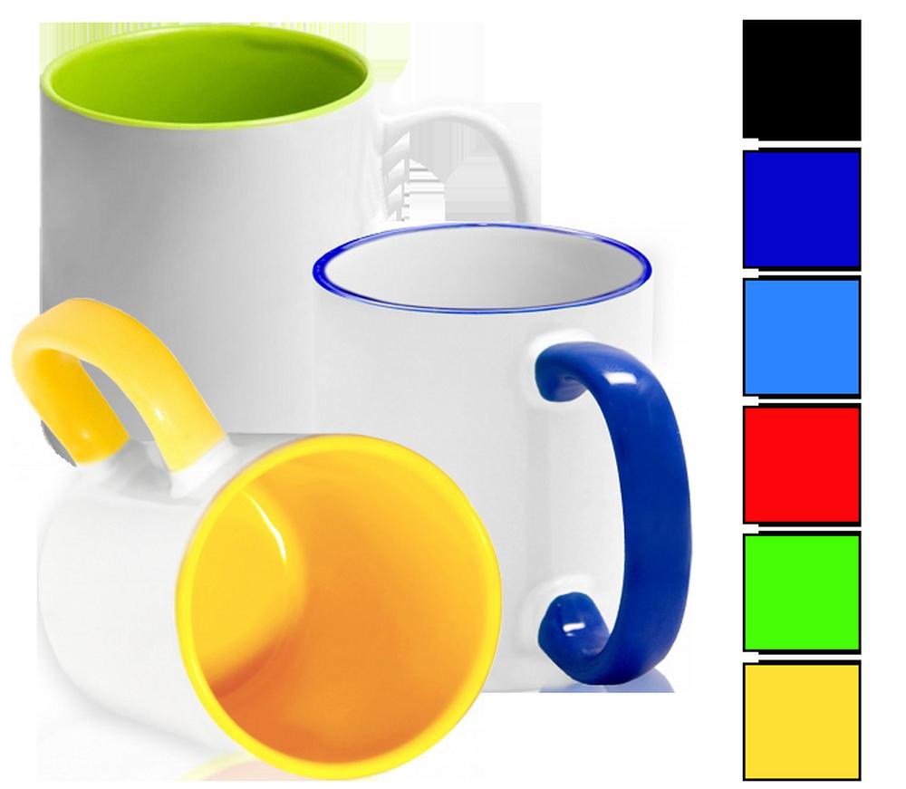 печать с лого на цветной кружке