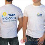 футболка белая мужская с логотипом компании на заказ