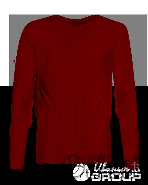 Бордовая футболка с длинным рукавом мужская