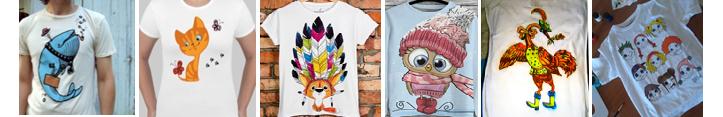 Фото детских футболок с рисунками