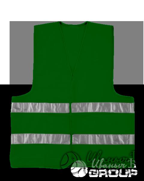 Сигнальный жилет на заказ зеленый