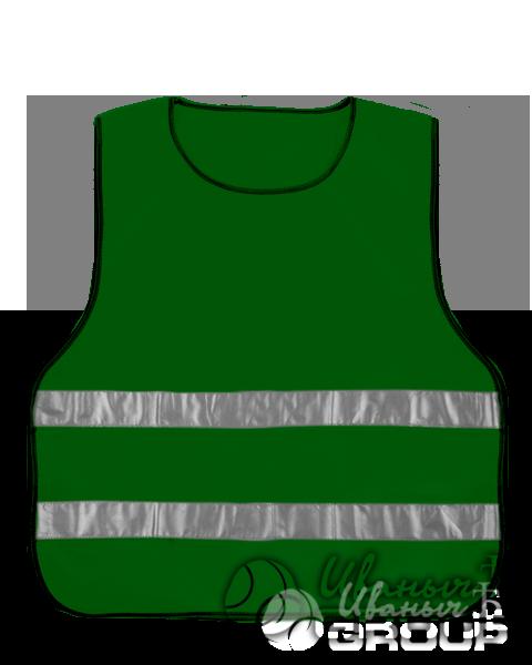 Сигнальный жилет детский зеленый
