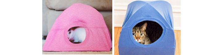 Фото кошачьих домиков из старых футболок