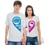 парные футболки для него и для неё идеальная пара