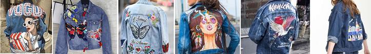 Фото модных в 2019 женских ветровок из денима с декором