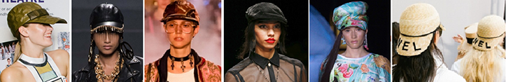 Фото кепок на весну, которые можно увидеть на показах женской моды