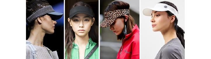 Фото кепок-визор, модных весной и летом 2019