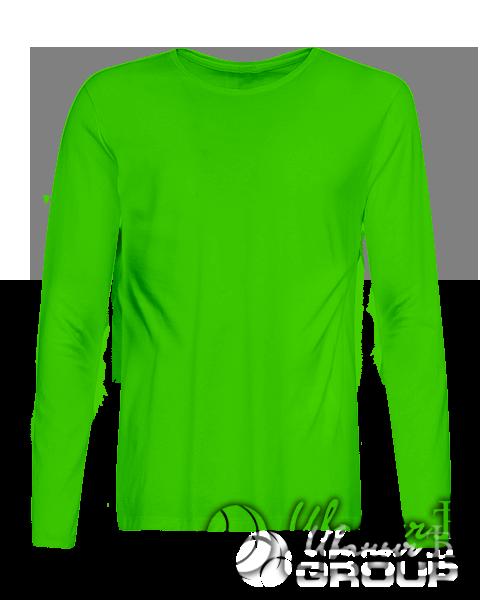 Зеленая футболка с длинным рукавом мужская