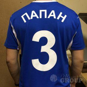 Печать номеров на футбольной форме
