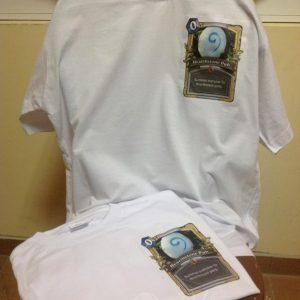 печать лого на футболке