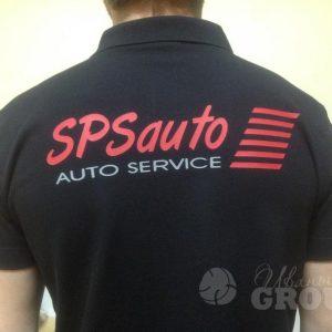 печать лого на рубашке поло