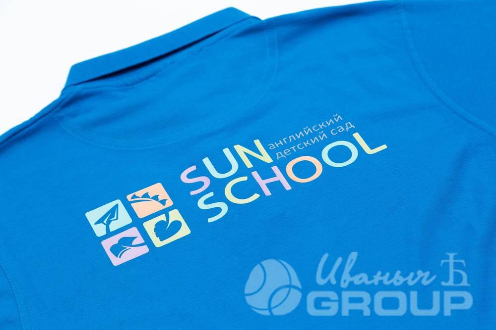 Печать логотипов на футболках-поло