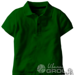 Темно-зеленое поло детское