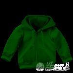 Темно-зеленая толстовка детская