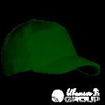 Темно-зеленая бейсболка велюровая