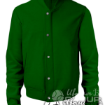 Темно-зеленый бомбер премиум