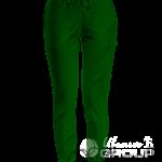Темно-зеленые штаны женские