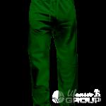 Темно-зеленые штаны прямого кроя