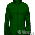 Темно-зеленая ветровка женская