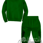 Темно-зеленый костюм детский