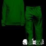 Темно-зеленый костюм мужской