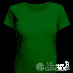Темно-зеленая женская футболка