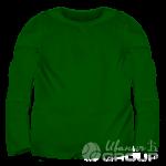 Темно-зеленый лонгслив детский