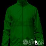 Темно-зеленая ветровка с капюшоном