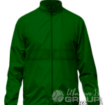 Темно-зеленая ветровка на кнопках