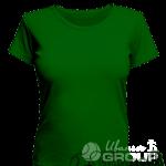 Темно-зеленая женская футболка для беременных