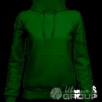 Темно-зеленое худи женское