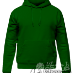 Темно-зеленое худи