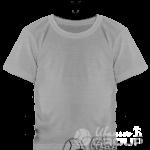 Серо-меланжевая детская футболка