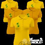 Печать на цветных рубашках поло