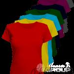 Женские футболки оптом под нанесение