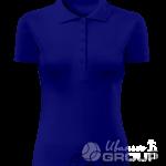 Темно-синее поло женское