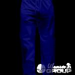 Темно-синие штаны прямого кроя