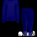 Темно-синий костюм женский