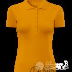 Оранжевое поло женское