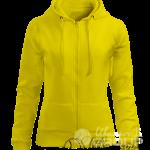 Желтая толстовка женская
