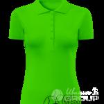 Зеленое поло женское