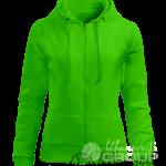 Зеленая толстовка женская