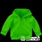 Зеленая толстовка детская
