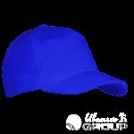 Синяя бейсболка велюровая