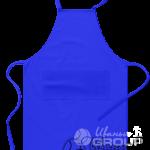 Синий фартук на заказ