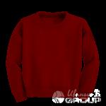 Бордовый свитшот детский