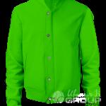 Зеленый бомбер премиум