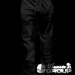 Черные штаны прямого кроя